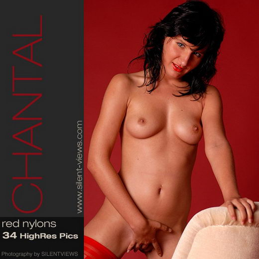 Chantal - `#88 - Red Nylons` - for SILENTVIEWS