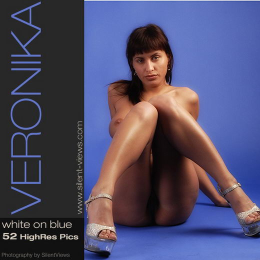 Veronika - `#231 - White on Blue` - for SILENTVIEWS