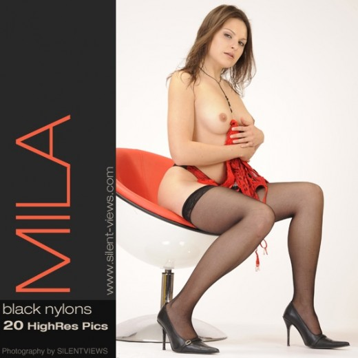 Mila - `#443 - Black Nylons` - for SILENTVIEWS