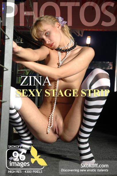 Zina - `Sexy Stage Strip` - by Skokov for SKOKOFF