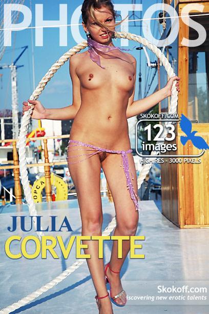 Julia in Corvette gallery from SKOKOFF by Skokov