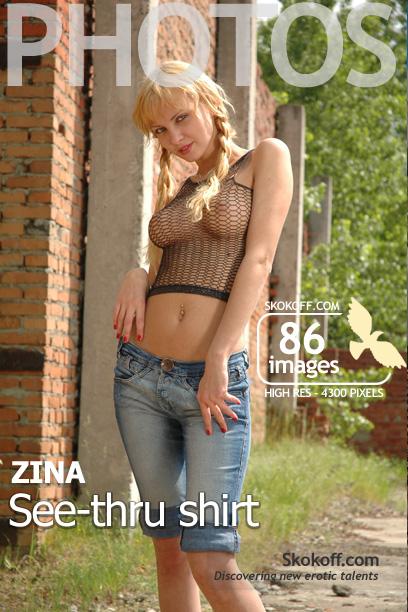Zina - `See-thru Shirt` - by Skokov for SKOKOFF