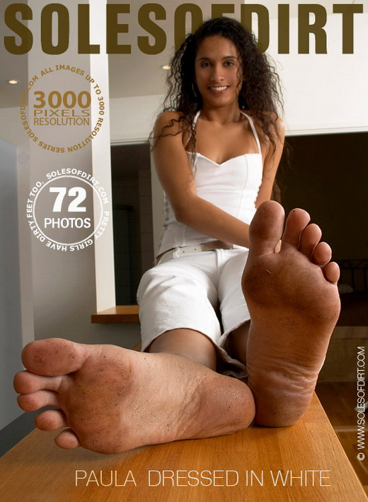 Paula - `Dressed in White` - for SOLESOFDIRT
