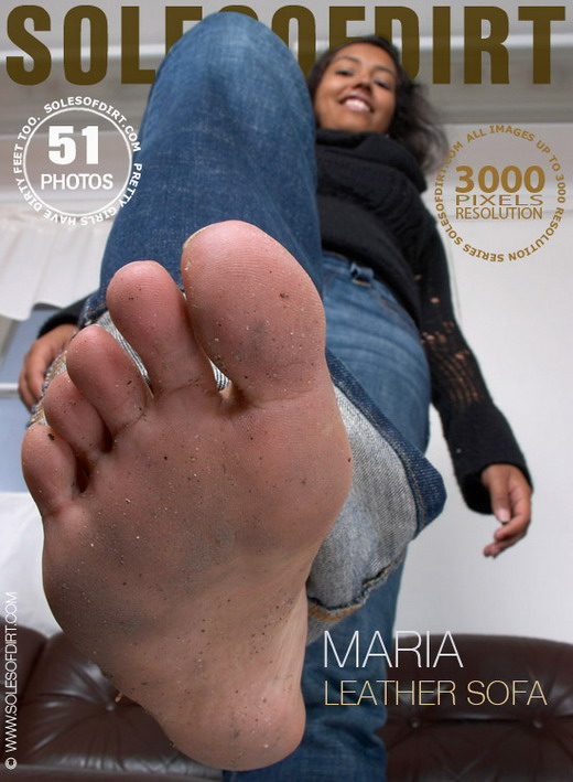 Maria - `Leather Sofa` - for SOLESOFDIRT
