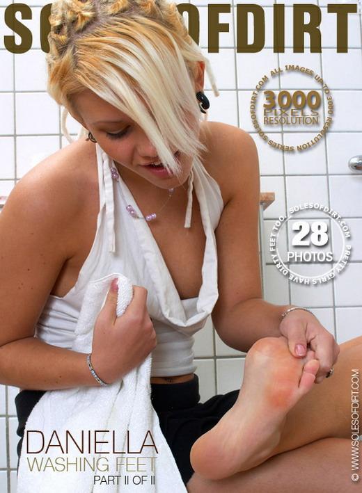 Daniella in Washing Feet - Part 2 gallery from SOLESOFDIRT