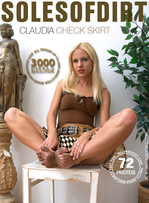Claudia - `Check Skirt` - for SOLESOFDIRT