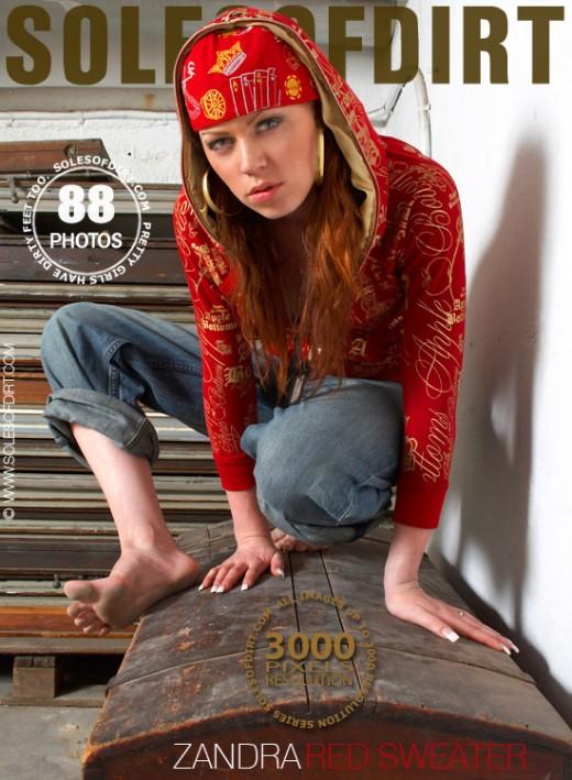 Zandra - `Red Sweater` - for SOLESOFDIRT