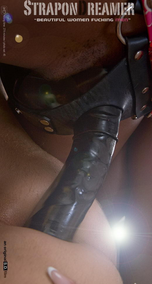 `Black Strap on Fucking! - A Huge Ebony Strapon in his White Ass` - for STRAPONDREAMER