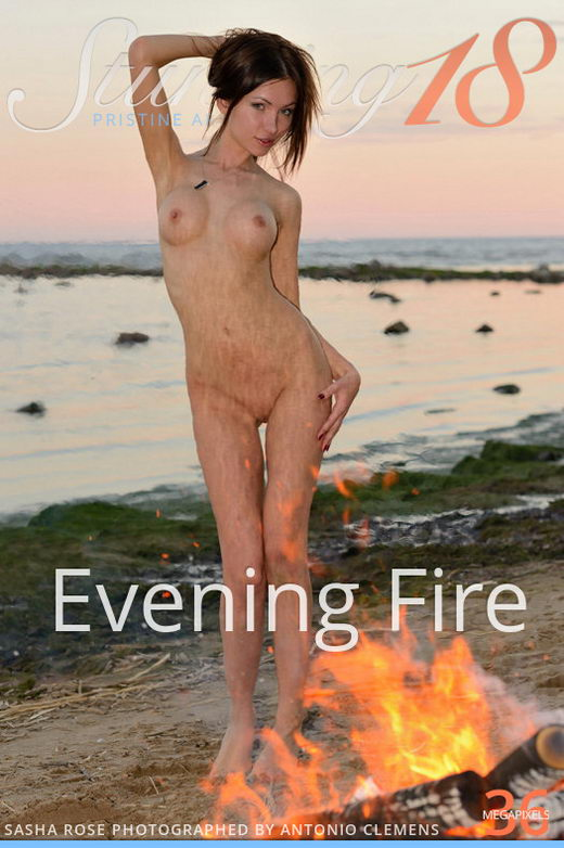 Sasha Rose - `Evening Fire` - by Antonio Clemens for STUNNING18