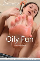 Marla in Oily Fun video from STUNNING18 by Antonio Clemens