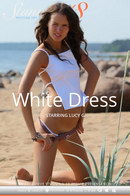 Lucy G in White Dress video from STUNNING18 by Antonio Clemens