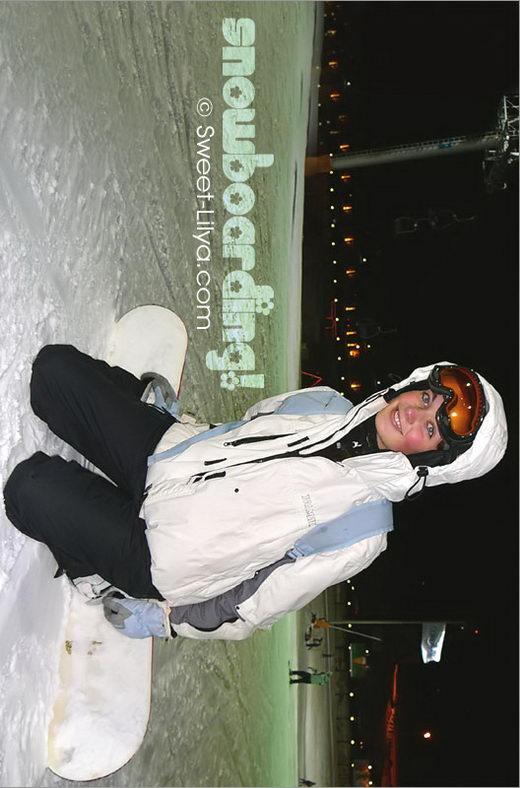 Lilya - `3036-Diary Snow Boarding` - by Alexander Lobanov for SWEET-LILYA