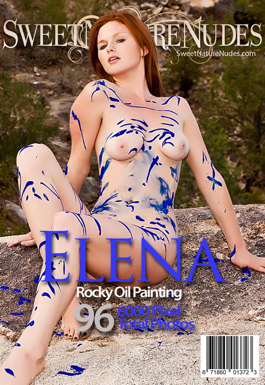 Elena - `Rocky Oil Painting` - by David Weisenbarger for SWEETNATURENUDES