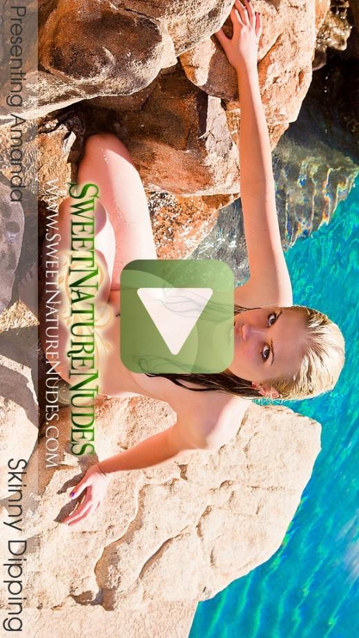 Amanda - `Skinny Dipping` - by David Weisenbarger for SWEETNATURENUDES