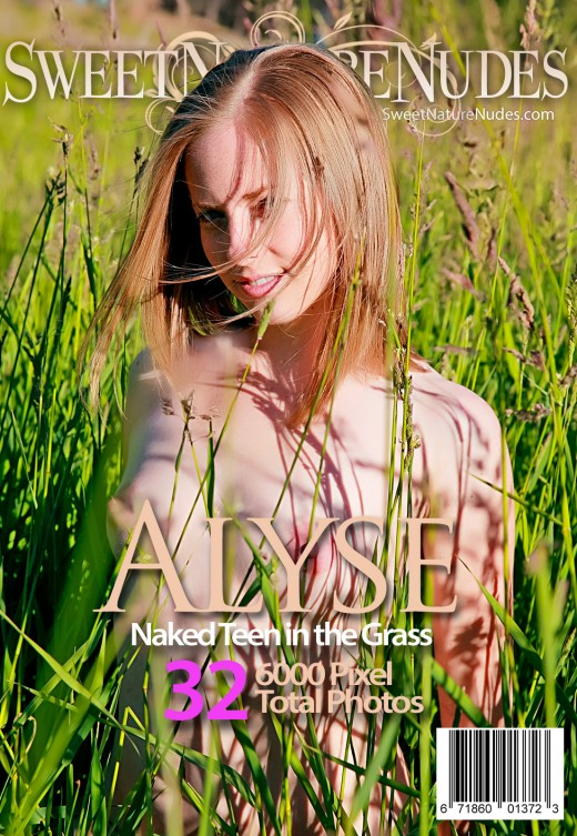 Alyse - `Naked Teen In The Grass` - by David Weisenbarger for SWEETNATURENUDES