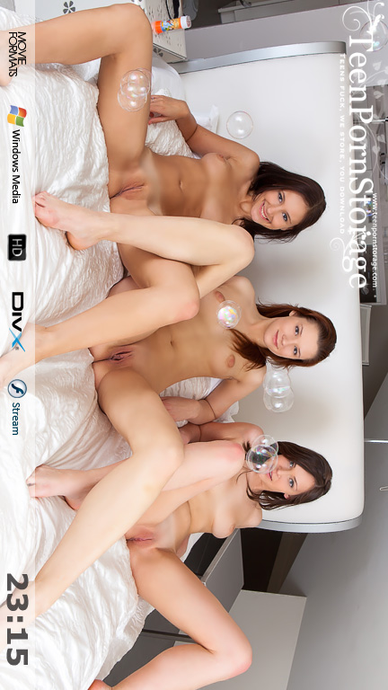 Emi & Sophia & Viktory - `Caresses In Bed` - for TEENPORNSTORAGE