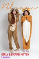 Emily Bloom & Kawaiii Kitten in Onesies gallery from THEEMILYBLOOM