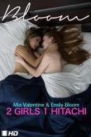Mia Valentine & Emily Bloom in 2 Girls 1 Hitachi video from THEEMILYBLOOM