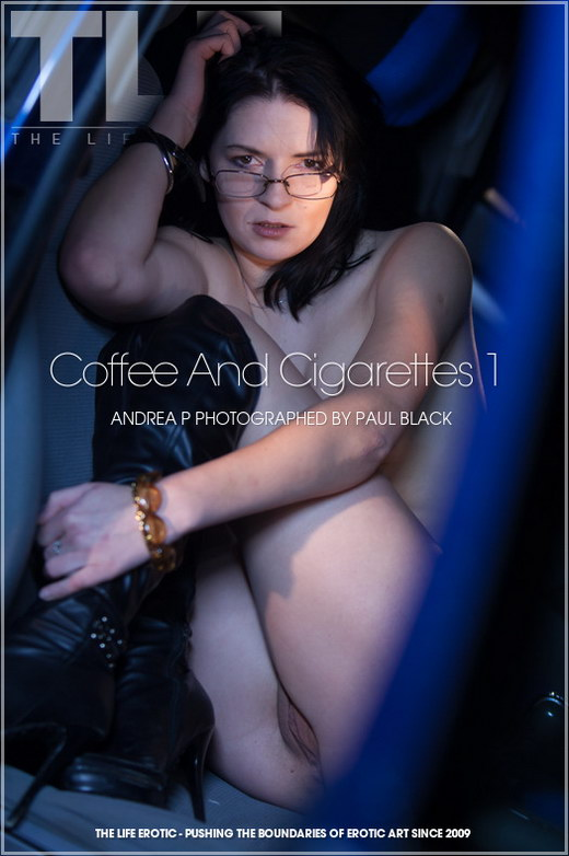 Andrea P - `Coffee And Cigarettes 1` - by Paul Black for THELIFEEROTIC
