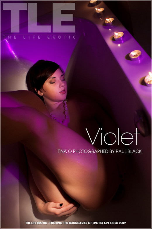 Tina O - `Violet` - by Paul Black for THELIFEEROTIC