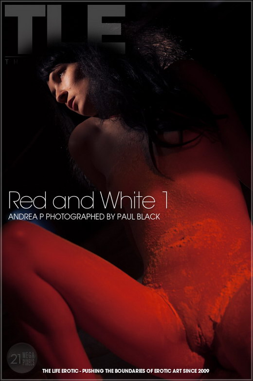 Andrea P - `Red And White 1` - by Paul Black for THELIFEEROTIC