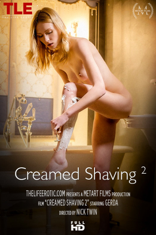 Gerda A in Creamed Shaving video from THELIFEEROTIC by Nick Twin