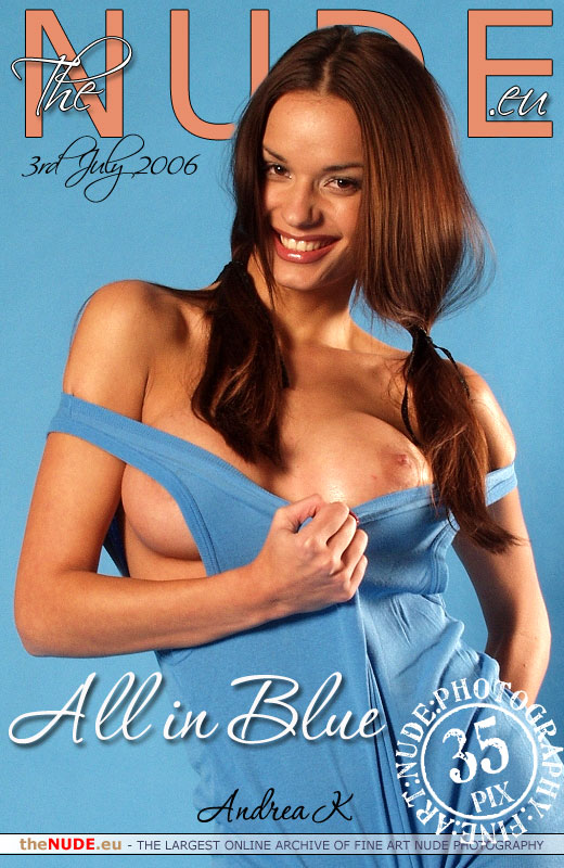 Andrea K - `All in Blue` - for THENUDE