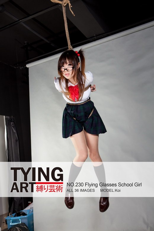 Koi - `230 - Flying Glasses School Girl` - for TYINGART