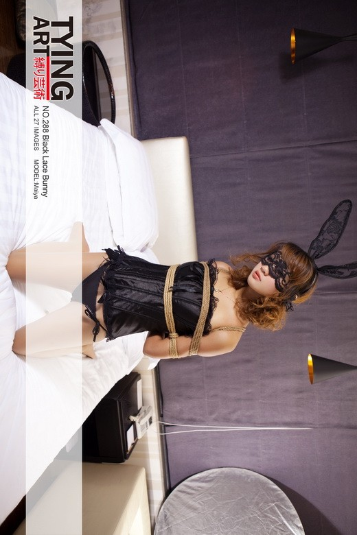 Maiya - `288 - Black Lace Bunny` - for TYINGART