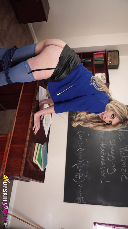 Ashleigh - `Blackmailed Teacher` - for UPSKIRTJERK