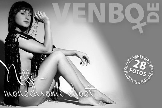 Netti - `Monochrome Shoot` - by Tom Hiller for VENBO