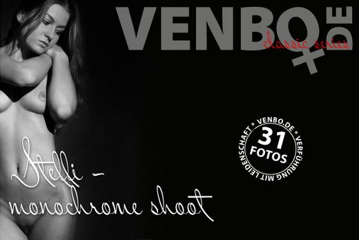 Steffi - `Monochrome Shoot` - by Tom Hiller for VENBO