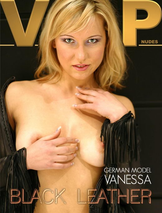Vanessa - `Black Leather` - for VIPNUDES