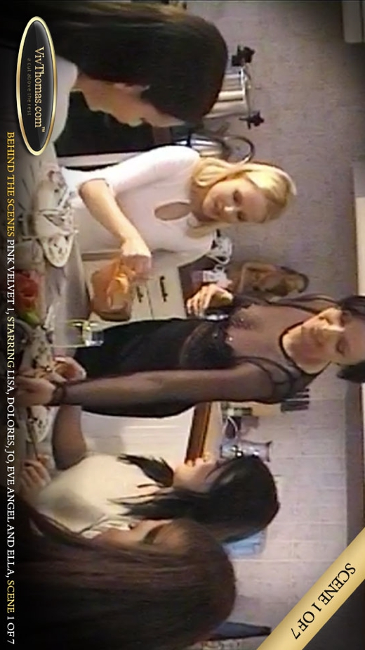 Ella A & Eve Angel & Jo & Lisa C - `Pink Velvet Extras 1` - by Viv Thomas for VIVTHOMAS VIDEO