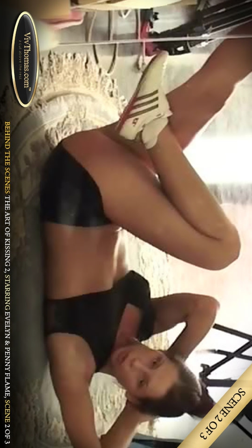 Evelyn A & Penny Flame - `The Art Of Kissing 2 Extras 2` - by Viv Thomas for VIVTHOMAS VIDEO