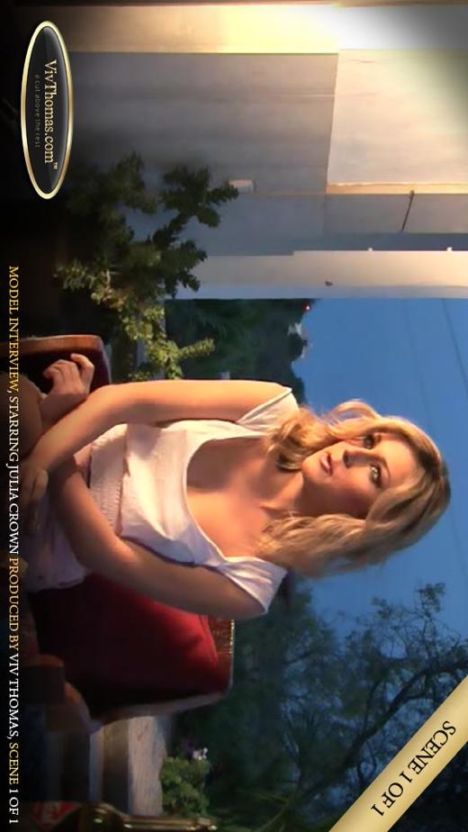 Julia Crown - `Interview with Julia` - by Viv Thomas for VIVTHOMAS VIDEO