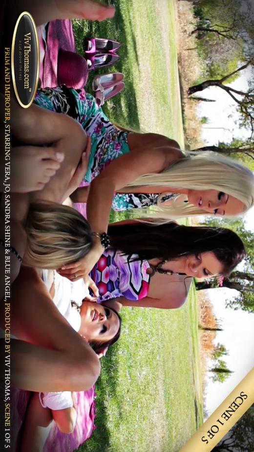 Blue Angel & Jo & Sandra Shine & Vera A - `Prim and Improper Part 1` - by Viv Thomas for VIVTHOMAS VIDEO