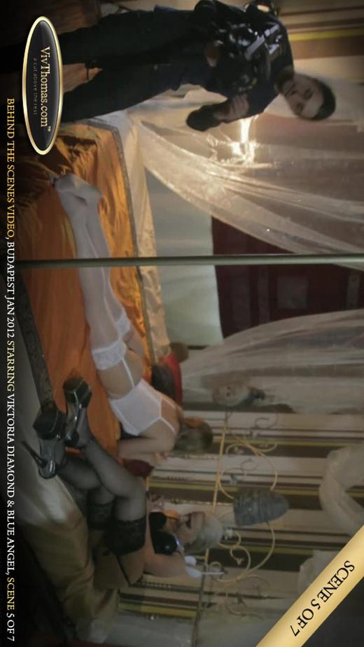 Blue Angel & Viktoria Diamond - `Behind The Scenes Budapest February 2012 Part 5` - by Viv Thomas for VIVTHOMAS VIDEO