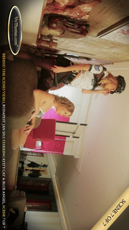 Blue Angel & Kitty Cat - `Behind The Scenes Budapest February 2012 Part 7` - by Viv Thomas for VIVTHOMAS VIDEO