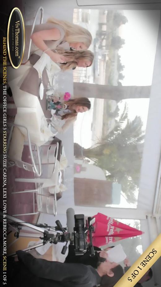 Lexi Lowe & Rebecca More & Suzie Carina - `Office Girls 3 BTS Extras 1` - by Viv Thomas for VIVTHOMAS VIDEO