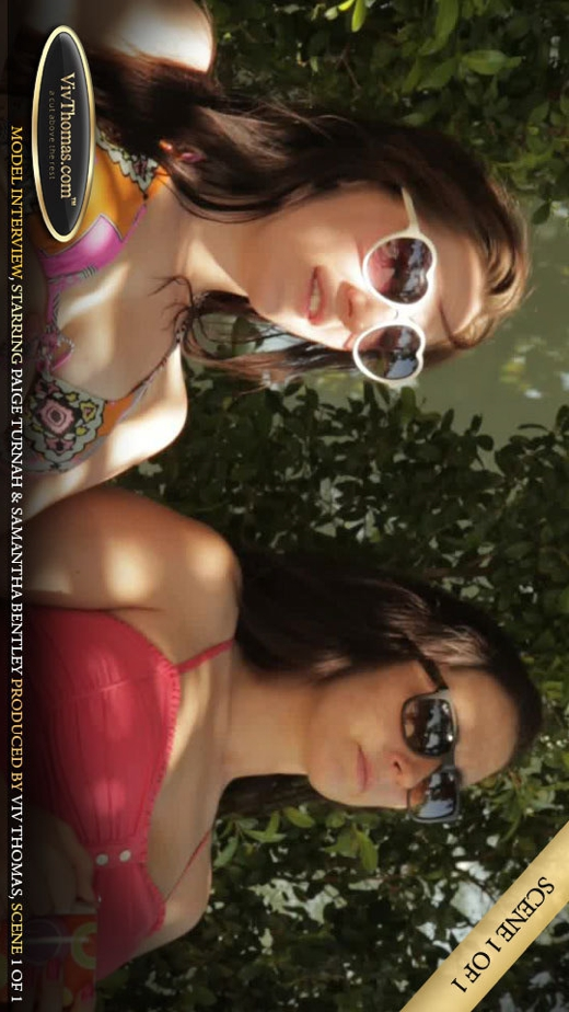Paige Turnah & Samantha Bentley - `Paige Turnah & Samantha Bentley Interview Part 1` - by Viv Thomas for VIVTHOMAS VIDEO