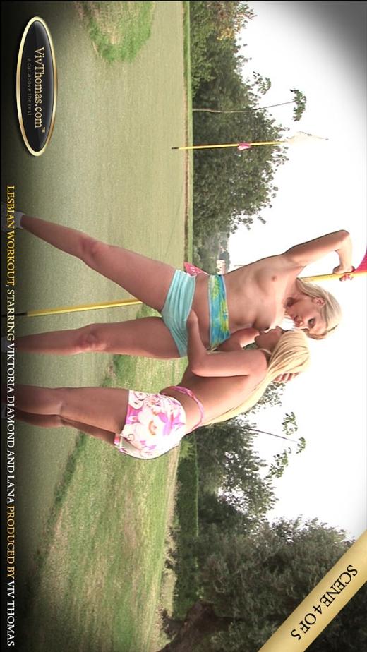 Lana S & Viktoria Diamond - `Lesbian Workout Part 4` - by Viv Thomas for VIVTHOMAS VIDEO