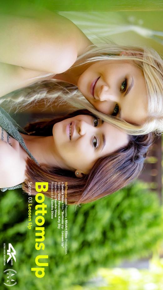 Gina Ferocious & Katy Sky in Bottoms Up Episode 3 - Loosen Up video from VIVTHOMAS VIDEO by Sandra Shine