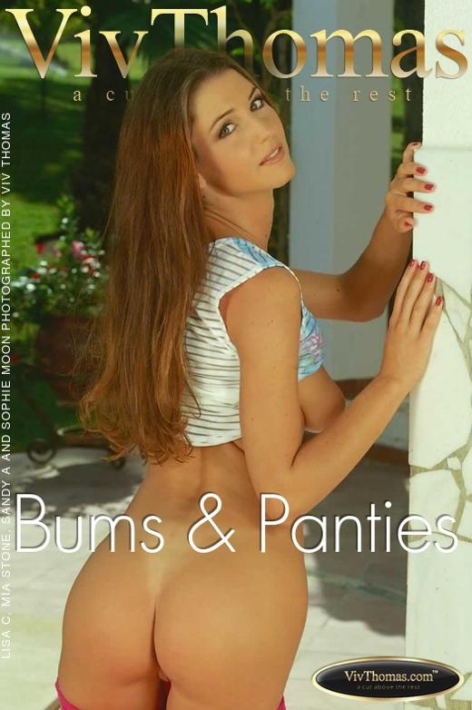 Lisa C & Mia Stone & Sandy A & Sophie Moon - `Bums & Panties` - by Viv Thomas for VIVTHOMAS