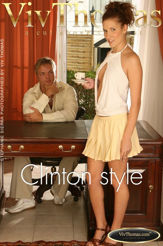Stephanie Sierra & Clark - `Clinton style` - by Viv Thomas for VIVTHOMAS