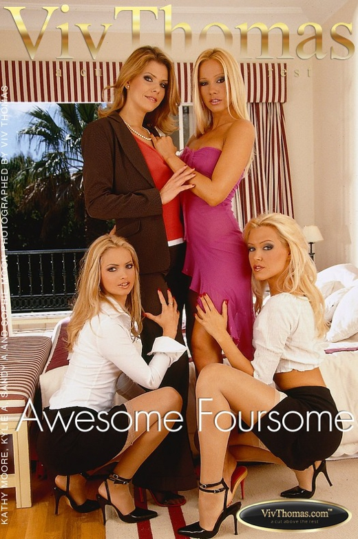 Kathy Moore & Kylie A & Sandy A & Sophie Moon - `Awesome Foursome` - by Viv Thomas for VIVTHOMAS