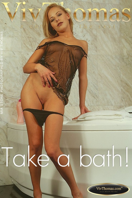Mia Stone - `Take a bath!` - by Viv Thomas for VIVTHOMAS