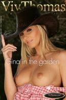 Gina in the garden
