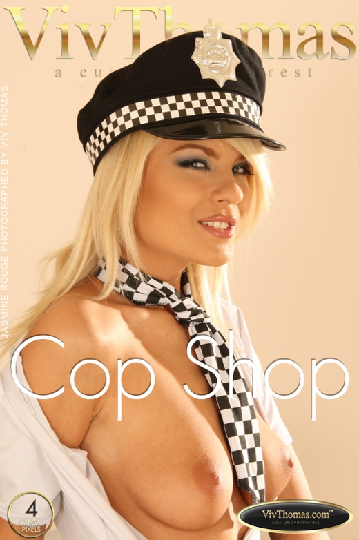 Jasmine Rouge - `Cop Shop` - by Viv Thomas for VIVTHOMAS