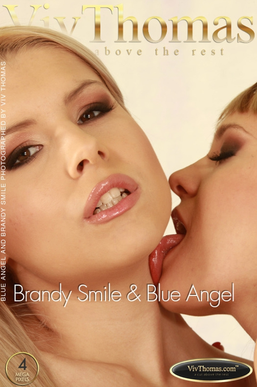 Blue Angel & Brandy Smile - `Brandy Smile & Blue Angel` - by Viv Thomas for VIVTHOMAS